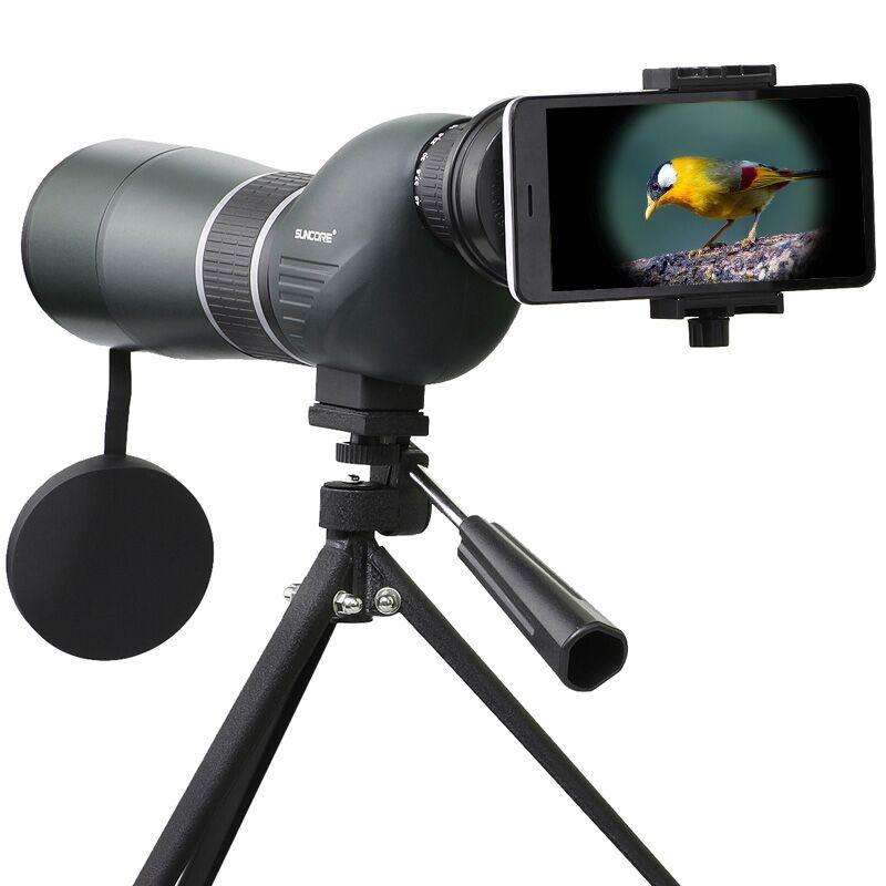 SUNCORE 12-36x50S Hunting Optics HD Monocular BAK-4 Prism Optical Lens Blue Coating Spotting Scope Telescope for Bird Watching suncore water resistant 12 x 25mm monocular telescope