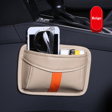 auto moile phones hold car phone holder Storage bag box storage Multifunction accessories PU Leather