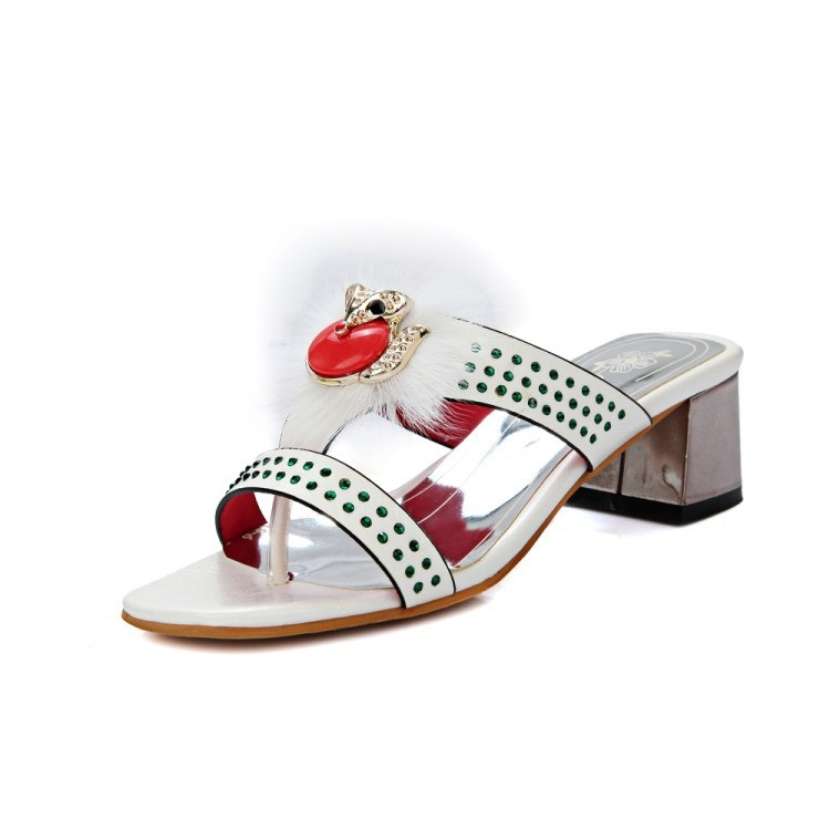 e7248b31c93f9 New Arrivals designers luxury fashion Slides Women High heels Shoes Open  Toe Mixed colors Sandals Slippers 45 3 Red White Shoes-in Slippers from  Shoes on ...
