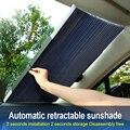 Ventana de coche parasol retráctil plegable parabrisas sombrilla cubierta escudo cortina Auto sol sombra bloque anti-UV coche ventana sombra