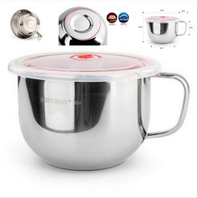 High Capacity 304 Stainless Steel Ramen Noodle Soup Pasta Bowl Food Salad Fruit Storage Induction Cooker