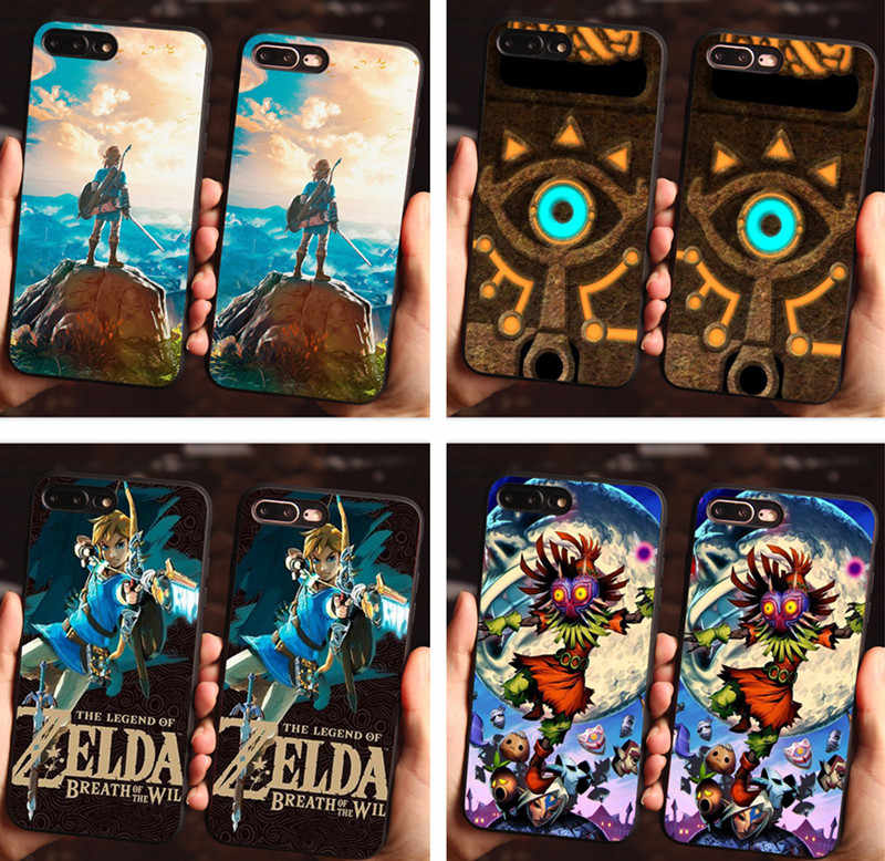 finest selection 440d8 ef022 The Legend of Zelda Breath of the Wild Sheikah Slate Soft silicone Phone  Case For iPhone 6 6S Plus 7Plus XR XS XSMAX Black Cover