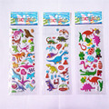 20 unids/lote Dinosaurio lindo de la Historieta 3D pegatinas diario PVC puffy recompensa niños lot educativo kawaii pegatinas de burbuja para los niños