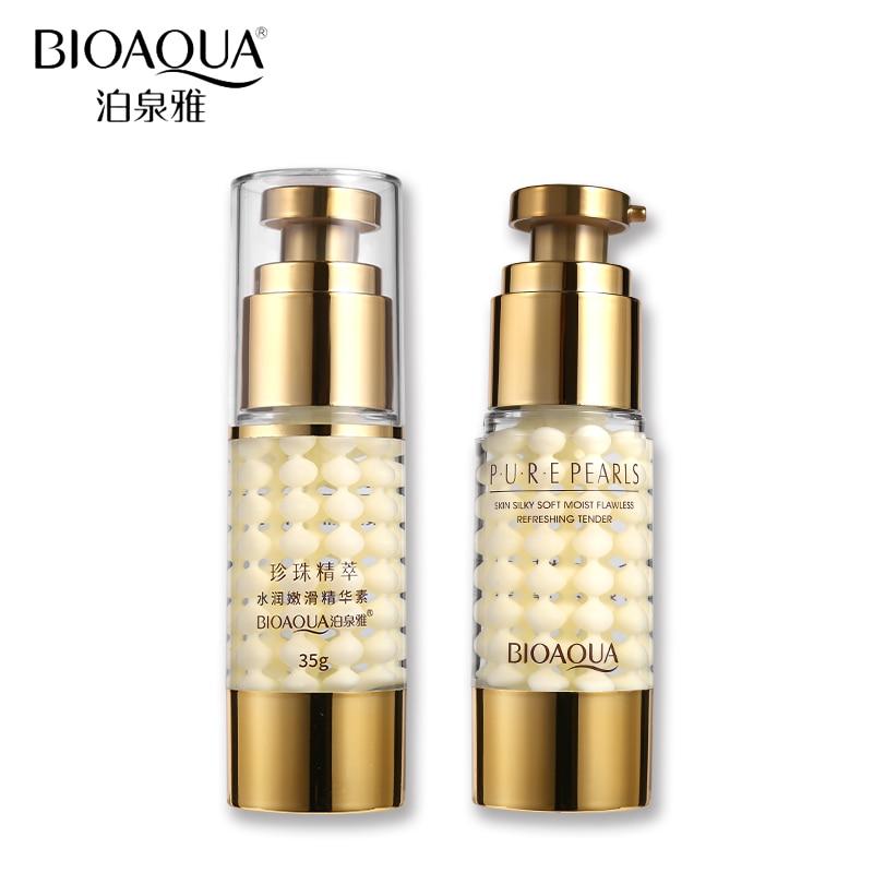 BIOAQUA Face Care Pure Pearl Collagen Hyaluronic Acid Skin Silky Soft Moisturizing Hydrating Anti Aging Essence Cream Nourish
