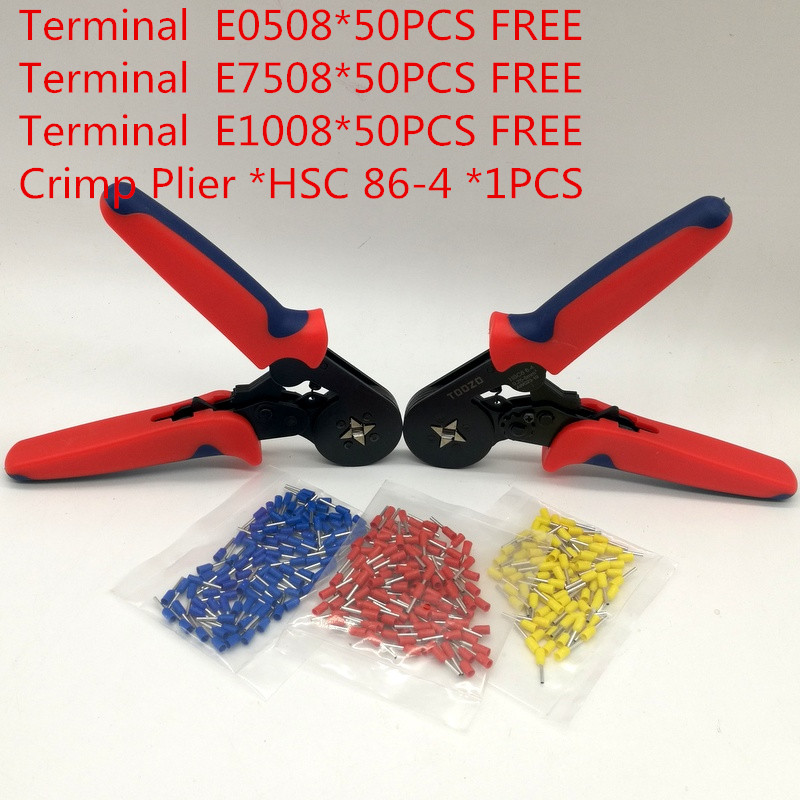 Self-Adjustable Crimping Plier AWG23-10 Wire Cable Tube Terminals Crimping Pliers Multi Hand Tools