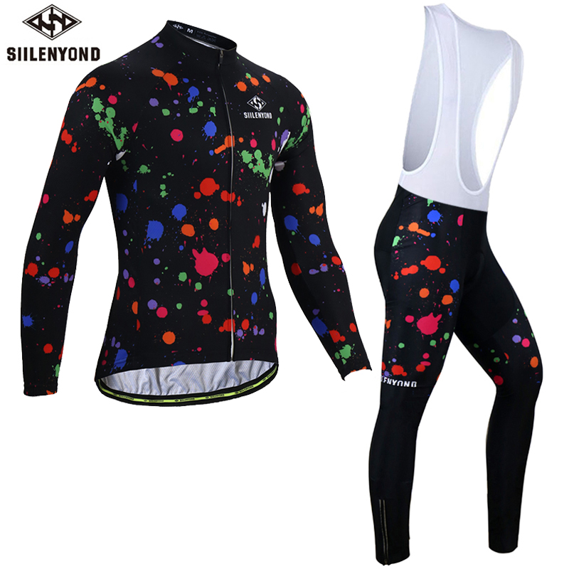Siilenyond 2019 Winter Thermal Mountain Bike Cycling Clothing Long Sleeve MTB Bicycle Cycling Jersey Sets For Men 1