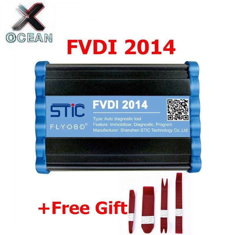 FVDI 2014 ABRITES Commander Scanner de Diagnostic odomètre Correction clé programmeur support fenêtre XP win 7