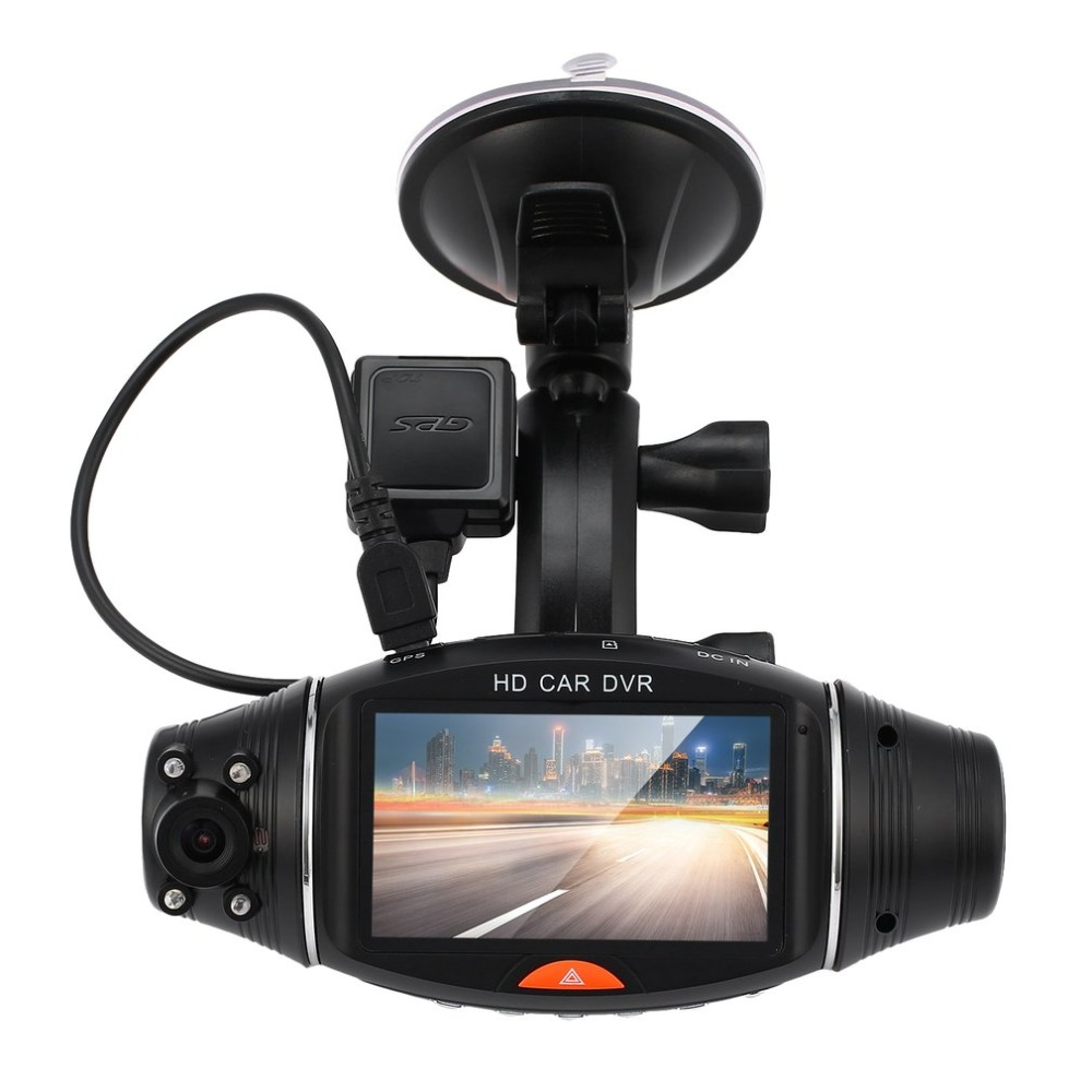 R310 HD Dual Lens Vehicle Black Box Car DVR 2.7 Inch 140 Degree Front 120 Degree Built-in G-Sensor Microphone Speaker hot sales цена
