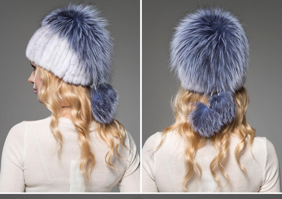 fur woman winter hats PCM012 (11)