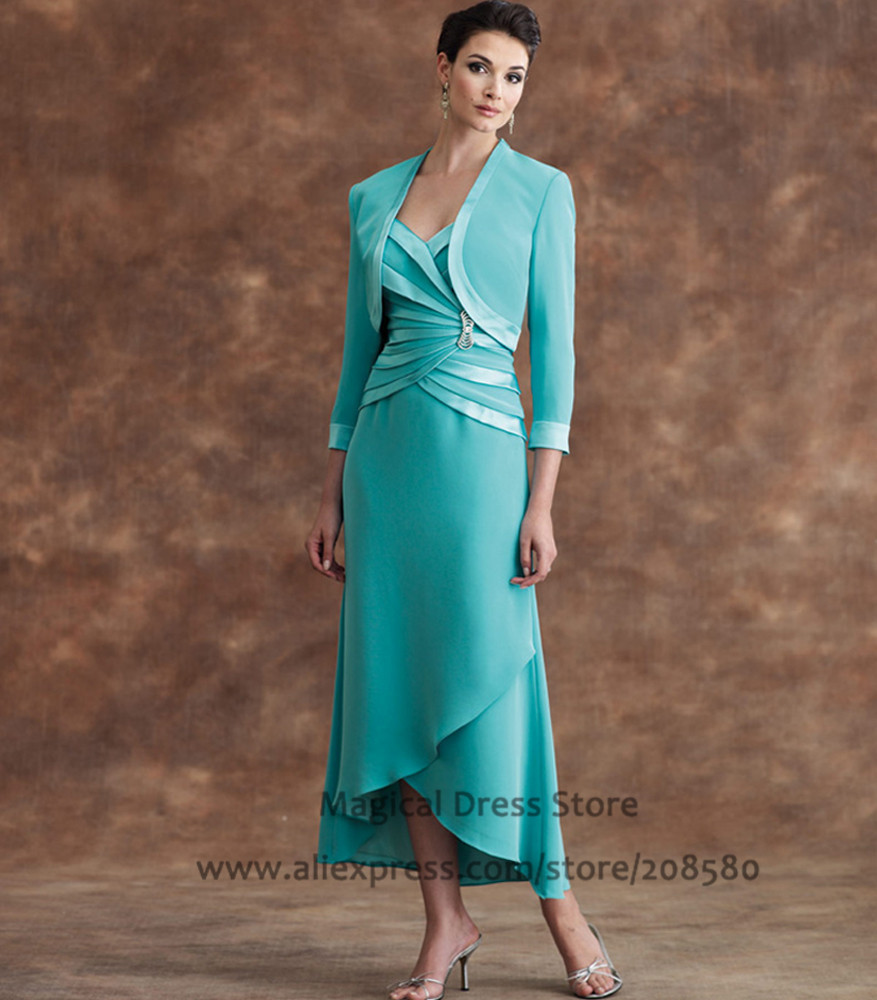 Bride Dresses Tea Length Mother of the Suit