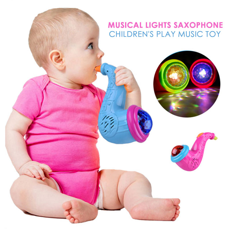 Loudspeaker Toy Flashing Horn Projection Toys Small Conch ABS Multicolor Music Developmental Sound Lovely Battery-Operated Gift