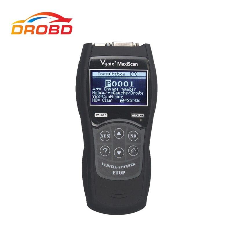 Newest Vgate Maxiscan VS890 OBD2 Scanner Fault Code Reader Auto Diagnostic-Tool Universal For Car OBD 2 II OBDII VS 890 elm327 v1 5 bluetooth obd2 obd ii car auto diagnostic scanner tool