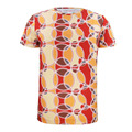 Men Vintage 3D T Shirt Disco Puzzle Poly Tee Circle pattern Retro Style