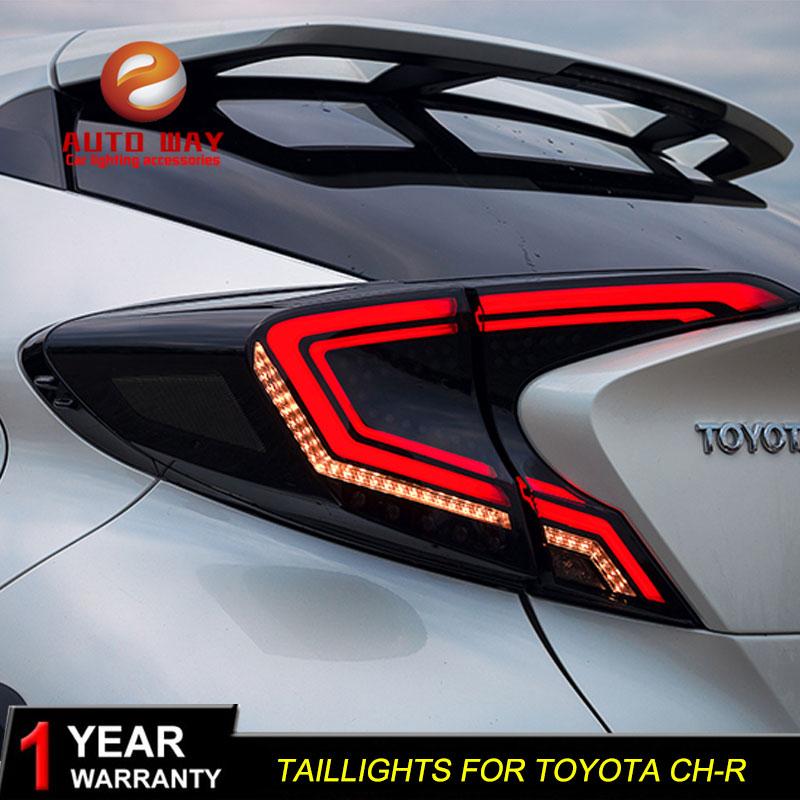 Estilo do carro caso para Toyota CH-R C-HR Toyota CHR 2018 luzes traseiras DA CAUDA Luzes LED Lâmpada Traseira Da Luz Da Cauda LEVOU lanterna traseira automóvel