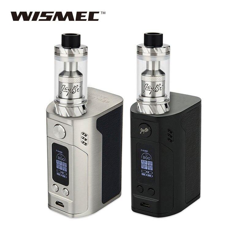 Original 300W WISMEC RX300 TC Vape Kit with Reux Atomizer Tank 6ml VS RX300 TC BOX Mod No 18650 Battery Electronic Cigarette termica ah 6 300 lcd tc