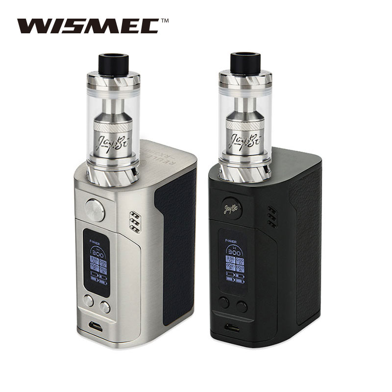 цена Original 300W WISMEC RX300 TC Vape Kit with Reux Atomizer Tank 6ml with RX300 TC BOX Mod No 18650 Battery Electronic Cigarette