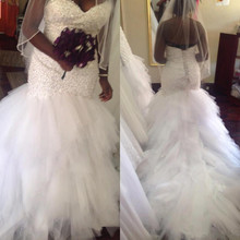 kejiadian 2019 African Mermaid Wedding Dresses train