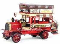 Винтаж гладить модель автобуса 1966 двухэтажный автобус сделать старый ретро модель автомобиля Изделия из металла классические офисные укра