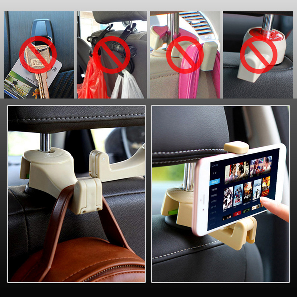 Car Rear Pillow Hook Hanger Row Universal Phone Holder Concealed Seat Back Clip Accessories Interior Auto Vihecle Bracket Mobile in Stowing Tidying from Automobiles Motorcycles