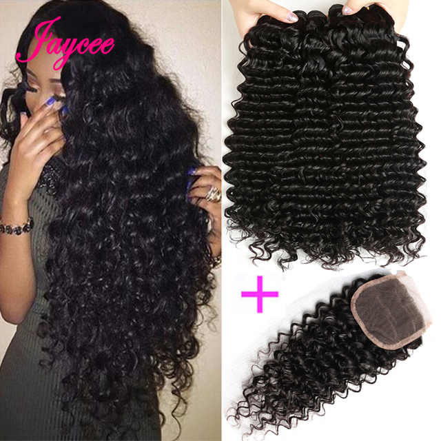 Aliexpress Com Buy Jaycee Brazilian Deep Wave 3 4 Bundles With