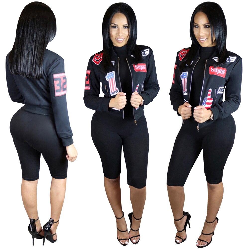 Nueva Mujeres Bomber Jacket Coat Mujer Traje de Vuelo de la Chaqueta Ocasional M