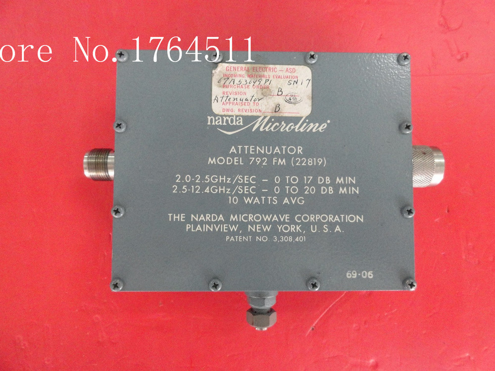 [BELLA] Supply Adjustable Continuation Narda 972 FM/FF DC-12.4GHz 0-20dB Variable Attenuator