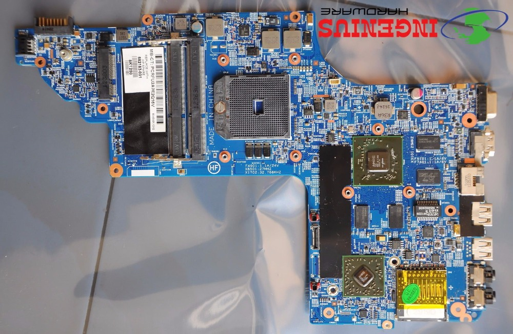 Free Shipping Original laptop motherboard 682182-001 for HP DV6 DV6-7000 series 682182-501 Notebook systemboard 100% Tested free shipping laptop motherboard 746447 501 for hp touchsmart 15 envy15 hm87 740m 2g 746447 001 notebook system tested