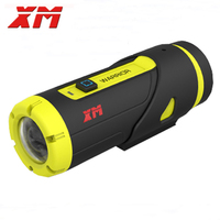XM H.265 1080P Full HD Спорт действий Камера 16 ГБ карты 3400 Батарея Wi Fi видео DV g сенсор мини камера с защитой от влаги Регистраторы как Gopro