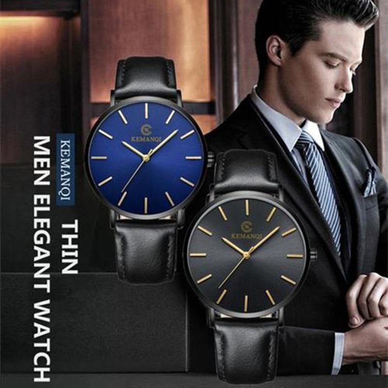 HTB1ereCaLvsK1RjSspdq6AZepXaj 6.5mm Ultra-thin Men's Watch 2019 New Fashion Watches Simple Business Men Quartz Watches Male Clock relogio masculino