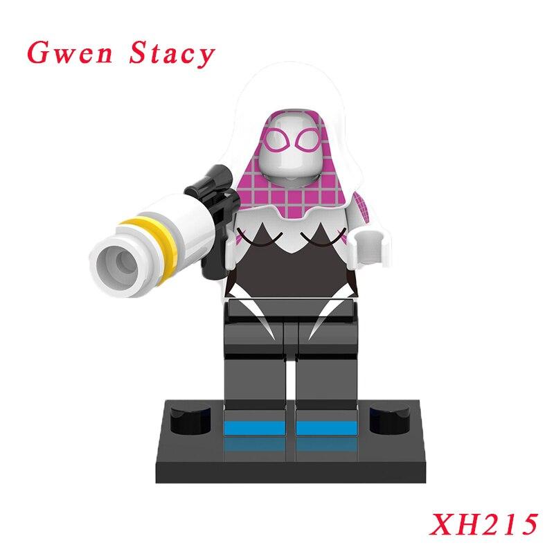 Gwen Stacy Spiderman r Super Heroes Spider Movie Model Bricks Building Blocks Education Toys For Children Xh215