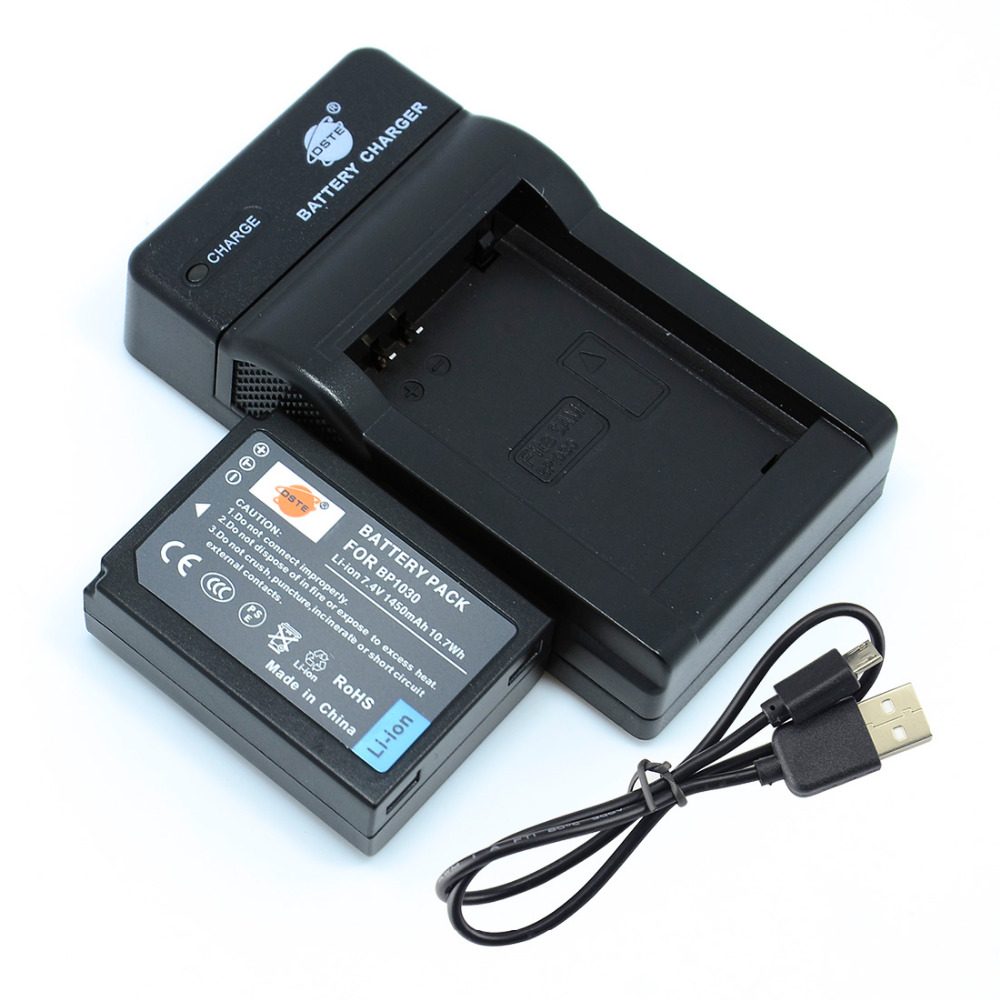 DSTE BP1030 BP-1030 Li-ion Battery with USB Port <font><b>Charger</b></font> for <font><b>Samsung</b></font> NX300 <font><b>NX1000</b></font> NX210 NX2000 NX300M NX500 Camera image