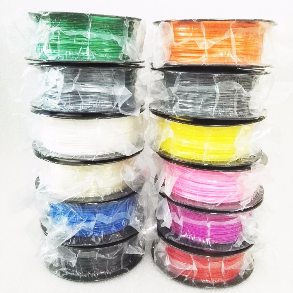 Plástico ABS 3D impresora 1 kg 1.75mm suministros de filamento para reprap 3D filamentos ABS filamento 1.75 impresora 3D filamento 12 Tipo