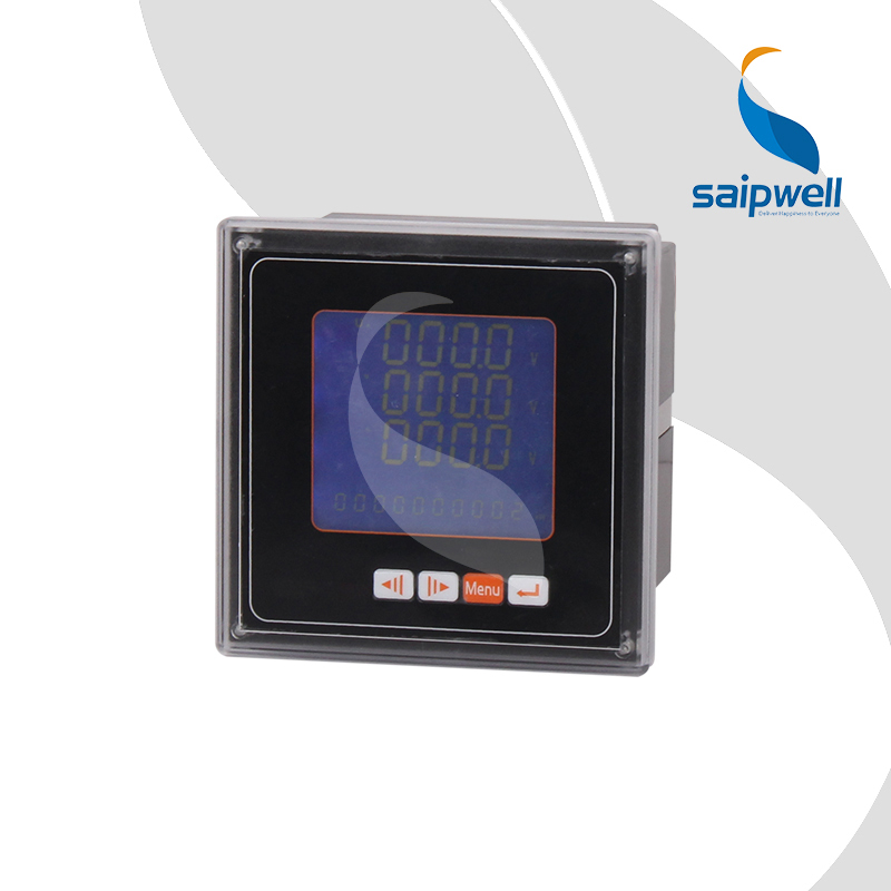 42 Type Three Phase LCD Voltage Meter,LCD Intelligent Voltage Panel Meter 120*120*80mm (SP-423UY) d2y panel size 120 120 low price and high quality lcd single phase digital multifunction meter for distribution box