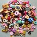 Atacado 1000 Pçs/lote Comida Casa De Bonecas Em Miniatura Conjunto de Mini Bolos Rosquinha Doce Biscuit Para Barbie Boneca BJD Casa Brinquedo do Jogo de Acessórios