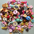 Wholesale 1000PCS/Lot Dollhouse Miniature Food Set Mini Cakes Donut Candy Biscuit For Barbie BJD Doll House Play Toy Accessories