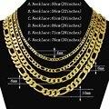 Hip Hop Herren Halskette 4/6/8mm Curb Kubanischen Kette Gold Farbe Gefüllt Schmuck Halsketten Partei Täglichen tragen 50-75cm