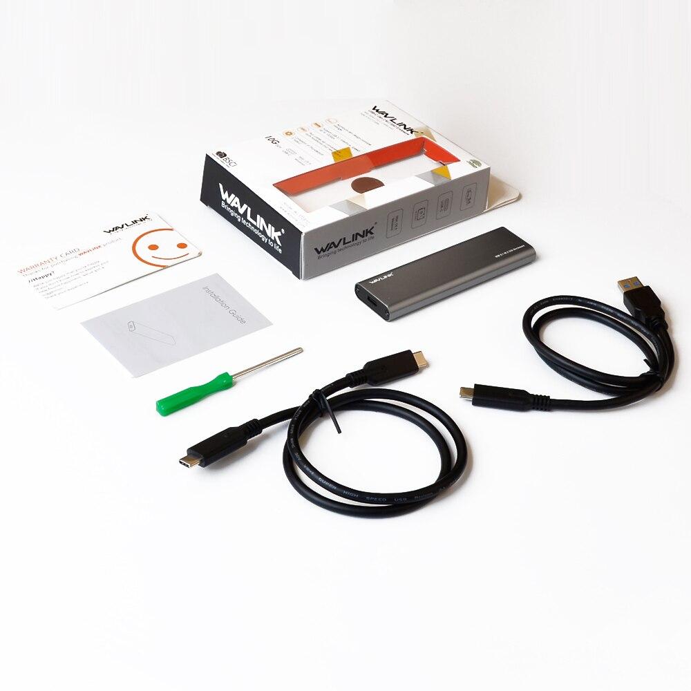 Wavlink ալյումինի նավահանգիստ Type C USB 3.1 Gen - Արտաքին պահեստավորման սարքեր - Լուսանկար 6