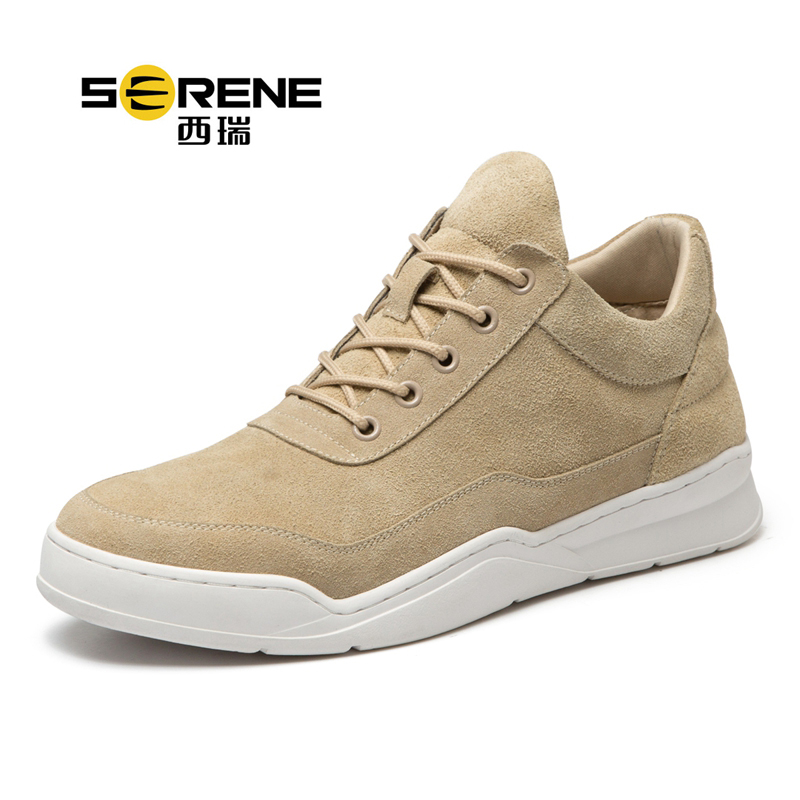 Suede Sneakers Men Breathable Sports Shoes Anti-Slip School Shoes Teenager Boys Spring Autumn Outdoor Shoes Casual Footwear New