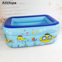 Three layers heightening and thickening Eco friendly material Inflatable Baby Swimming Pool Children's inflatable Pool iendycn baby swimming pool three layers inflatable square green pvc swimming pool gxy173