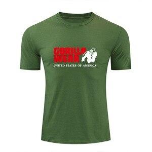 Men's Gorilla wearing Print Tees summer new cotton o neck short sleeve t shirt men fashion trends fitness tshirt free shipping(China)