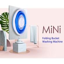 Мини складное ведро стиральная машина портативная ультразвуковая турбинная стиральная машина USB очиститель для белья домашний дорожный стиральный инструмент