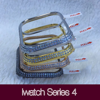 Hand made diamond watch case protective cover for Apple Watch iwatch Series 4123 38mm 44mm 40mm 42mm strap Watchbands