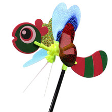 1Pc Colorful 3D Insect Large Animal Bee Ladybug Windmill Wind Spinner Whirligig Yard Garden Outdoor Classic Toys(China)