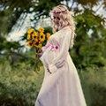 Estilo blanco de la gasa de maternidad vestido de royal dress embarazada apoyos de la fotografía embarazo sesión de fotos de maternidad larga dress camisón