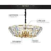 Золото Хрустальная люстра потолок современные фонари E14 и черный люстры освещение для гостиной гладить гальванических лампа тела