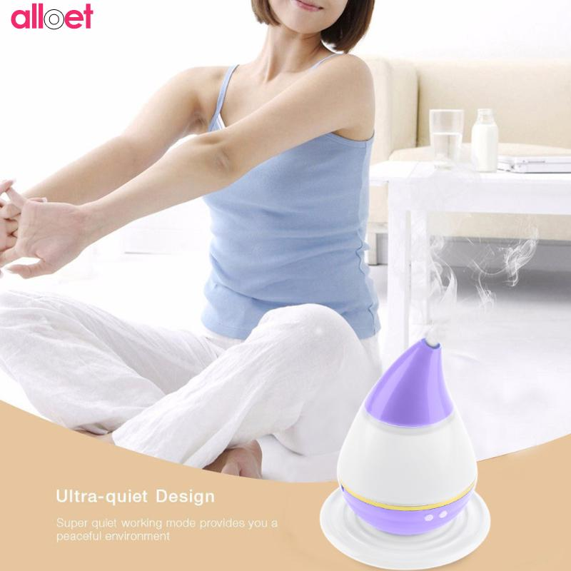 Water Drop Air Humidifier LED Light Aroma Fogger Oil Purifier Atomizer USB Power Home Office Air Diffuser Mist Maker dropship