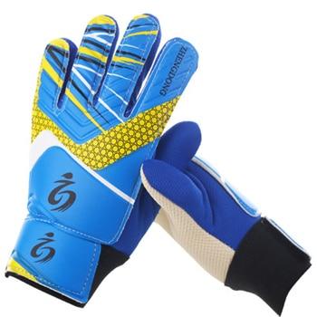 Kid's soccer goalkeeper gloves guantes de portero for children 5-16 years old soft goalkeeper gloves children riding scooters sp 12