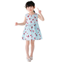 Princess Cherry Girl Dress Costumes Clothes for Kids Baby Sleeveless A-Line Dresses New Year Party Clothing Summer Girls Dresses