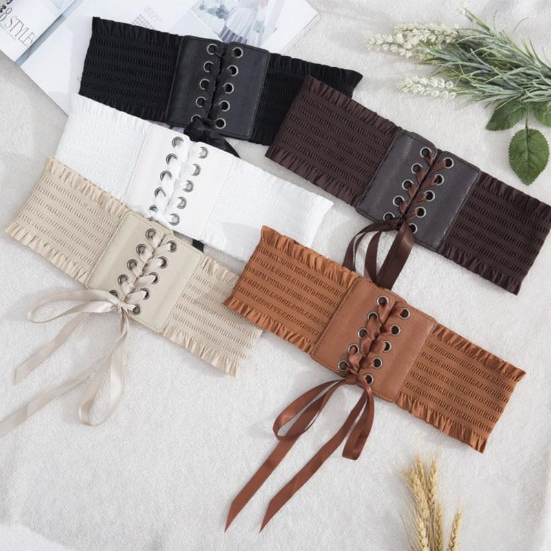Women Lady Dress Belt Wide Decoration Waist Strap Bowknot Fashion Durable Waistband Best Sale-WT