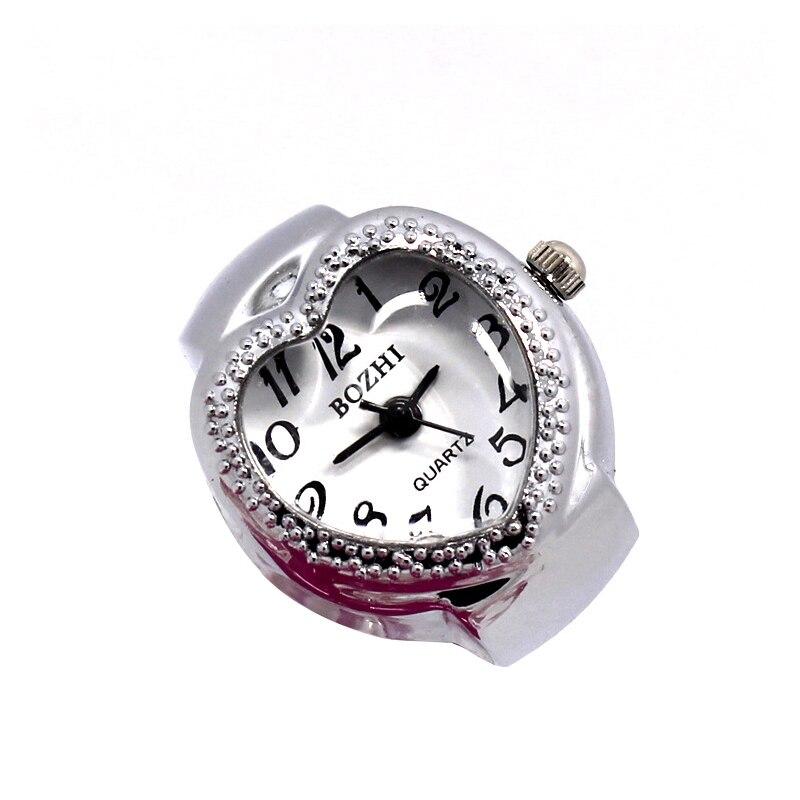 Silver Fashion Women Ring Watch Heart Ladies Watches Polka Dot Pattern Adjustable Rings Quartz Watch LL
